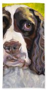 Spaniel The Eyes Have It Beach Towel