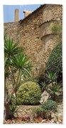 Spanish Church Garden Beach Towel