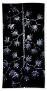 Sparkling Diamond Snowflakes Beach Towel