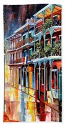 Sparkling French Quarter Beach Towel by Diane Millsap