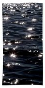 Sparkling Waters At Midnight Beach Towel