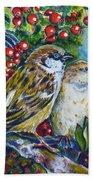 Sparrows On The Hawthorn Beach Towel