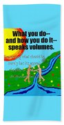 Speaks Volumes Beach Towel