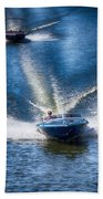 Speed On The Water Beach Towel
