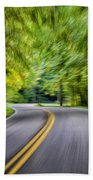 Speeding Through The Forest E42 Beach Towel