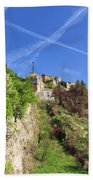 Sperone Fortress In Genova Beach Towel