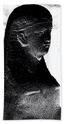 Sphinx Statue Torso Black And White Usa Beach Towel