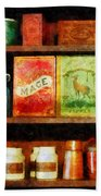 Spices On Shelf Beach Towel
