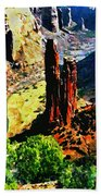 Spider Rock Canyon Dechelly  Beach Towel