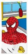 Spiderman  Beach Towel by Mark Ashkenazi