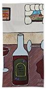 Essence Of Home - Spilt Glass Of Wine Beach Towel