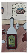 Essence Of Home - Spilt Wine Beach Towel