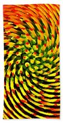 Spinning Watercolor  Beach Towel