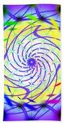 Spiral Light Hexagon Beach Towel