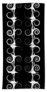 Spirals And Swirls Black And White Pattern  Beach Towel