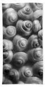 Spirals Black And White Beach Towel by Priska Wettstein