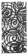 Spirals Of Love Beach Sheet by Daina White