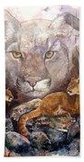 Spirit Cat Beach Sheet