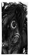 Spirit Feathers Horse Beach Towel