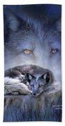 Spirit Of The Blue Fox Beach Towel