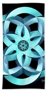 Spirit Of Water 1 - Blue Beach Towel