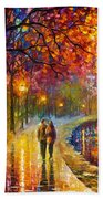 Spirits By The Lake - Palette Knife Oil Painting On Canvas By Leonid Afremov Beach Towel