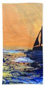 Spirits Rise As The Sails Fill Beach Towel