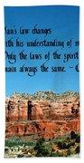 Spiritual Laws Beach Towel