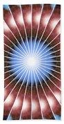 Spiritual Pulsar Kaleidoscope Beach Towel by Derek Gedney