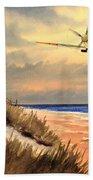 Spitfire Mk9 - Over South Coast England Beach Towel
