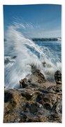 Splash In Motion  Beach Towel