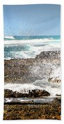 Splashes At Sea Beach Towel
