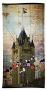 Splattered County Courthouse Beach Towel