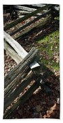Split Rail Fence Beach Towel