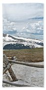 Split Rail Fence Near Alpine Visitor's Center In Rocky Mountain Np-co Beach Towel