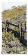 Split Rail Fence Yellow Beach Towel by Barbara Snyder