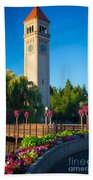 Spokane Clocktower Beach Towel