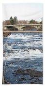 Spokane Falls In Winter Beach Sheet