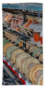Spools At Lonaconing Silk Mill Beach Towel