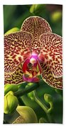 Spotted Orchid Beach Towel