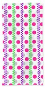 Spotty Stripe Beach Towel