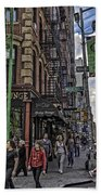 Spring And Mulberry - Street Scene - Nyc Beach Towel by Madeline Ellis