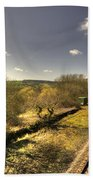 Spring At Seaton Junction  Beach Towel