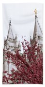 Spring At The Temple Beach Towel