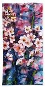 Spring Beauty Beach Towel by Zaira Dzhaubaeva