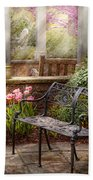 Spring - Bench - A Place To Retire  Beach Towel by Mike Savad