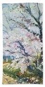 Spring Blossom Beach Towel by Henri Richet