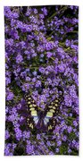 Spring Butterfly Beach Towel