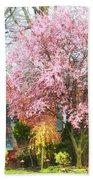 Spring - Cherry Tree By Brick House Beach Towel