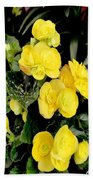 Spring Delight In Yellow Beach Towel